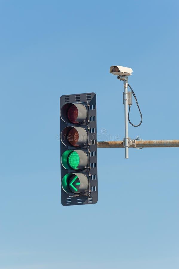 Caméra de télévision en circuit fermé de vidéo du trafic images stock