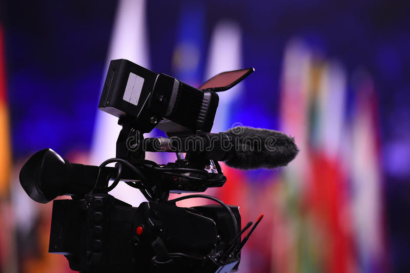 Caméra de télévision numérique moderne photographie stock