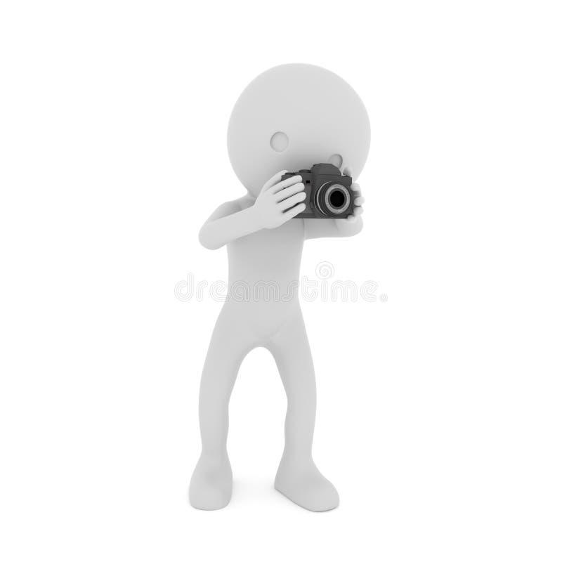 Caméra - les gens jouant la caméra rendu 3d illustration libre de droits