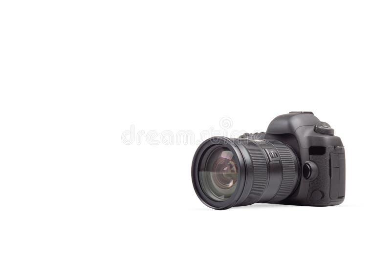 Caméra photo DSLR sur fond blanc photo libre de droits