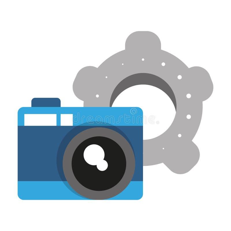 Cam?ra photographique et vitesses illustration de vecteur