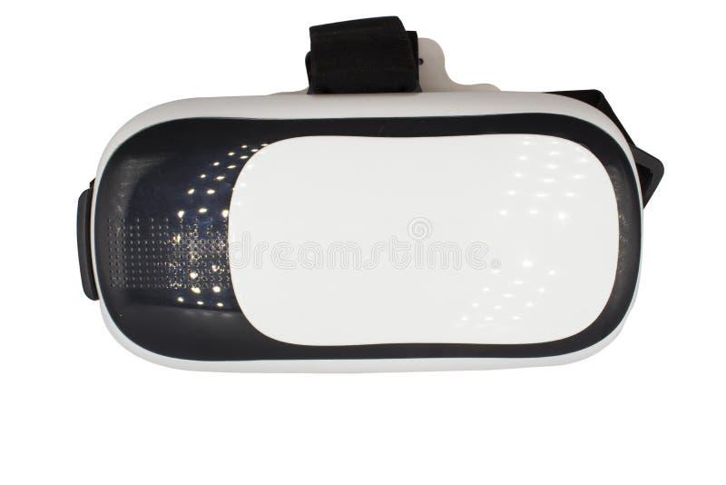 Caméra réaliste de VR, verres de boîte de VR/réalité virtuelle d'isolement sur le fond blanc images stock