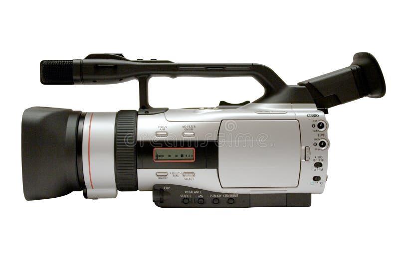 Caméra vidéo de Digita avec le chemin (vue de côté) photographie stock