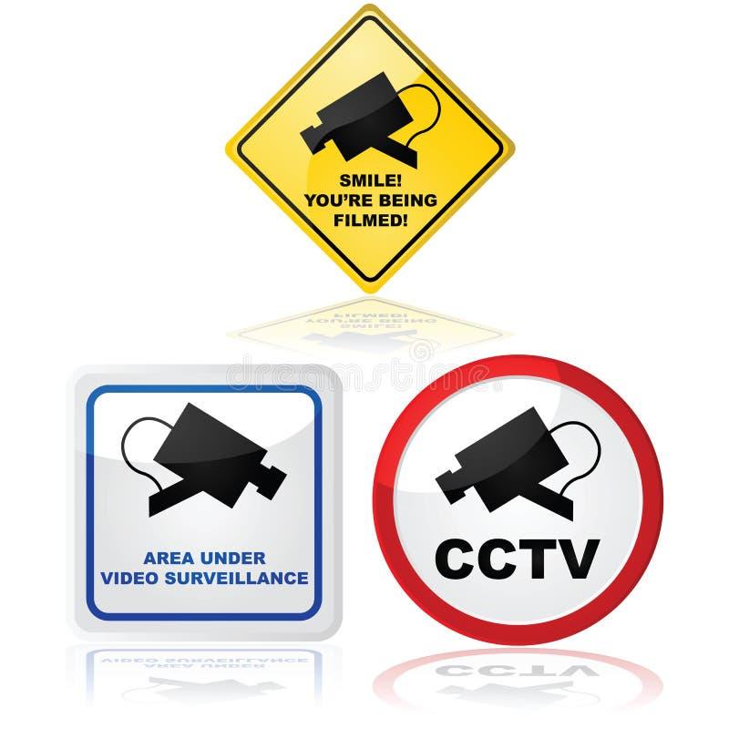 Caméra vidéo en service illustration libre de droits
