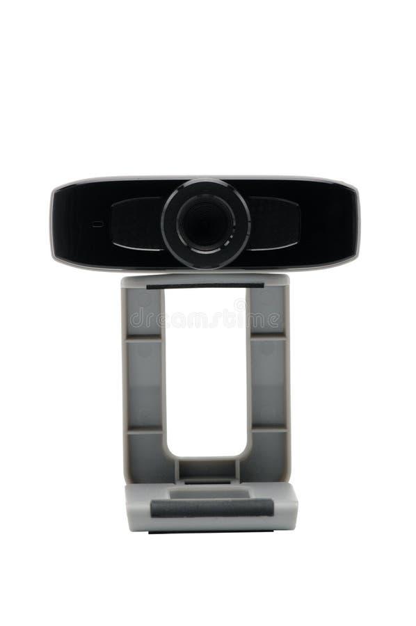 Caméra web pour la vidéo et toujours les images de radiodiffusion sur l'Internet sur le backgroumd blanc Appareil-photo lentille photo libre de droits