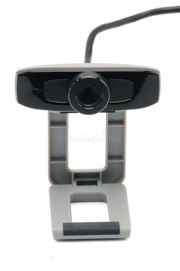 Caméra web pour la vidéo et toujours les images de radiodiffusion sur l'Internet sur le backgroumd blanc Appareil-photo lentille photographie stock libre de droits