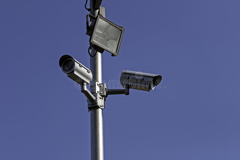 Caméras de sécurité. photo stock