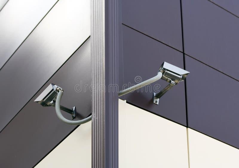 Caméras de sécurité de télévision en circuit fermé. photos libres de droits