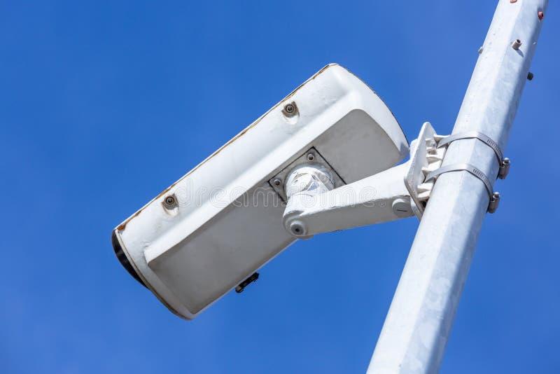 caméras de caméras de vidéosurveillance en arrière-plan image libre de droits