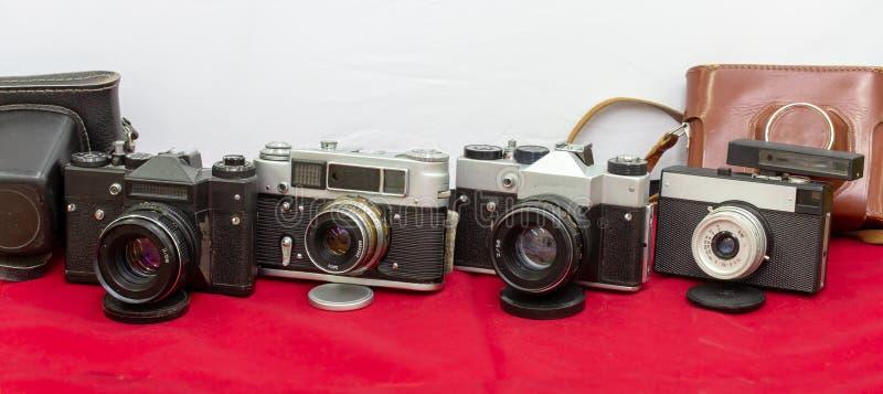 Caméras intégrées de film produites par l'URSS images stock