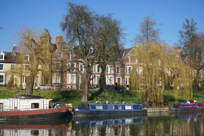 cam Cambridge łodzi England rzeki obraz stock