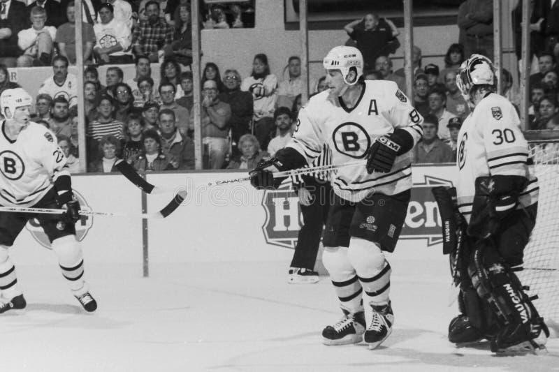 Cam Neely, Boston Bruins. Boston Bruins forward Cam Neely, (Image taken from B&W negative stock photography