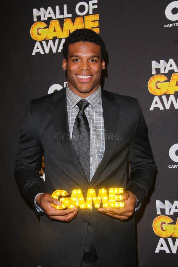 Cam Newton. At the Cartoon Network Hall of Game Awards, Barker Hangar, Santa Monica, CA 02-18-12 royalty free stock image
