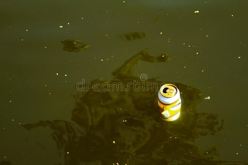 A Cam Poluting The Water Royalty Free Stock Image