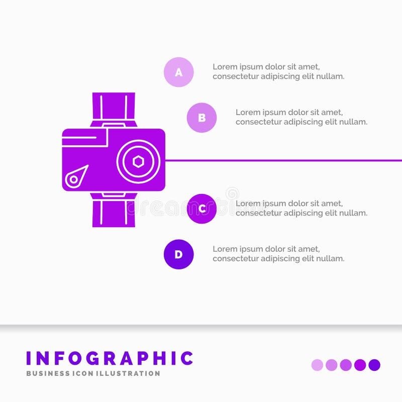 cam?ra, action, calibre num?rique, visuel, de photo d'Infographics pour le site Web et pr?sentation Style infographic d'ic?ne pou illustration libre de droits