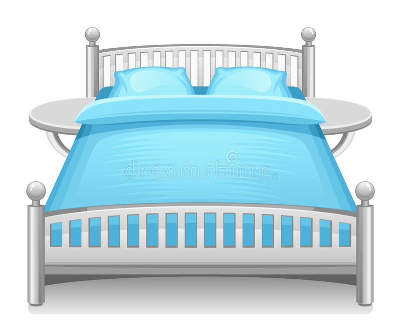 Cama azul ilustração stock