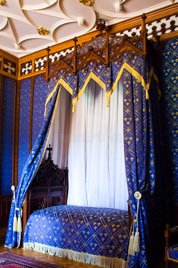 Cama confortável foto de stock royalty free
