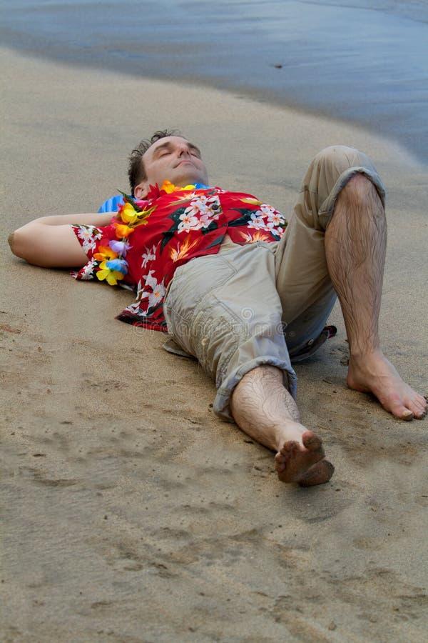 Cama da praia foto de stock royalty free