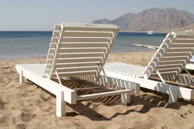 Cama da praia fotos de stock royalty free