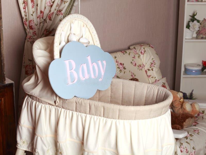 Cama de bebê imagem de stock royalty free