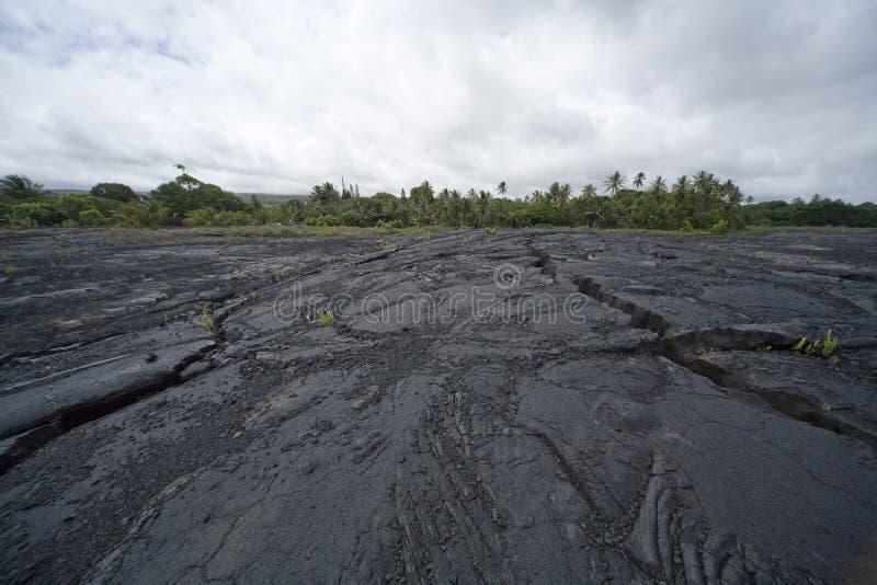 Cama de lava rachada 9802 imagem de stock