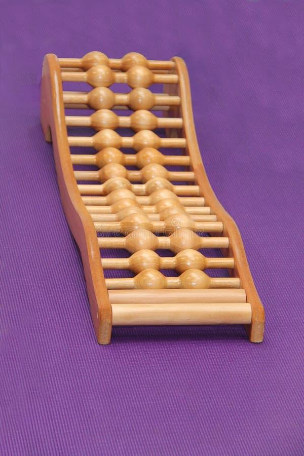 Cama de madeira da terapia foto de stock