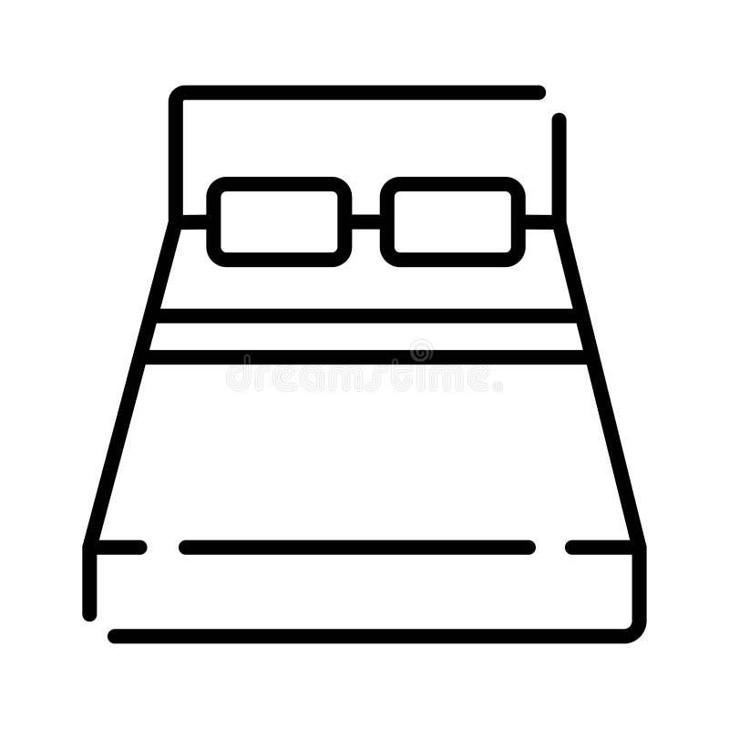 Cama Engrana el icono stock de ilustración