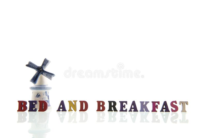 Cama holandesa - y - desayuno fotografía de archivo libre de regalías