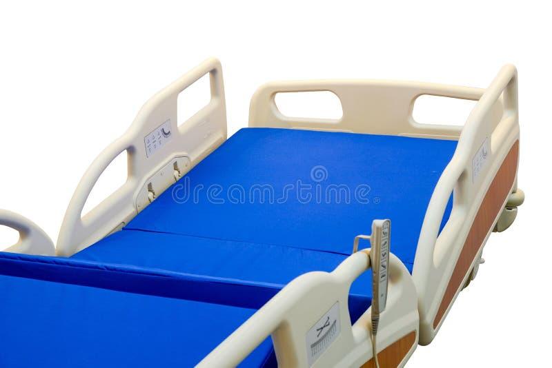 Cama paciente moderna com controlo a distância para para ajustar a altura da cama fotografia de stock