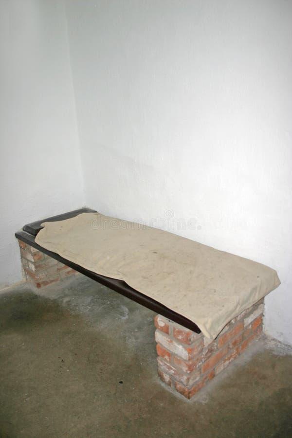 Cama vieja de la celda de prisión en el castillo de Stirling en Escocia fotos de archivo libres de regalías