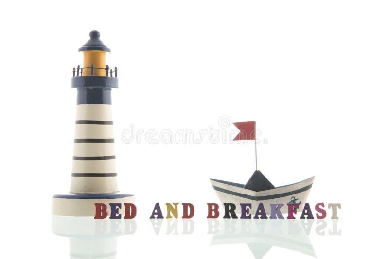Cama - y - desayuno en la costa fotografía de archivo libre de regalías