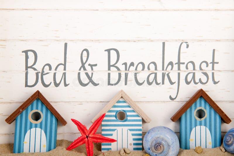 Cama - y - desayuno fotografía de archivo