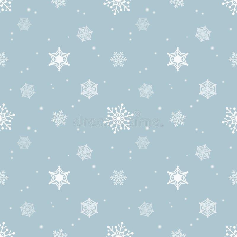 Camada azul pastel do matiz do fundo do floco de neve ilustração do vetor