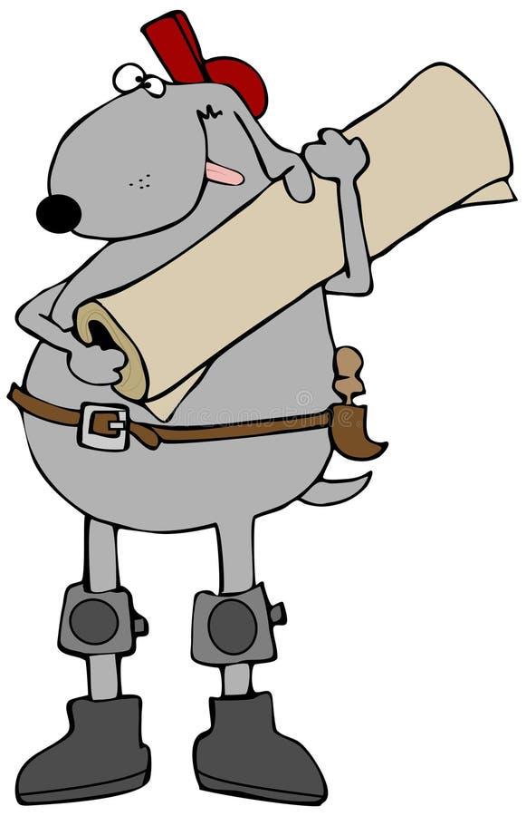 Camada canina do tapete ilustração do vetor