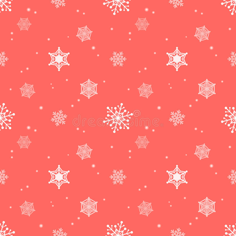 Camada vermelha pastel do matiz do fundo do floco de neve ilustração royalty free