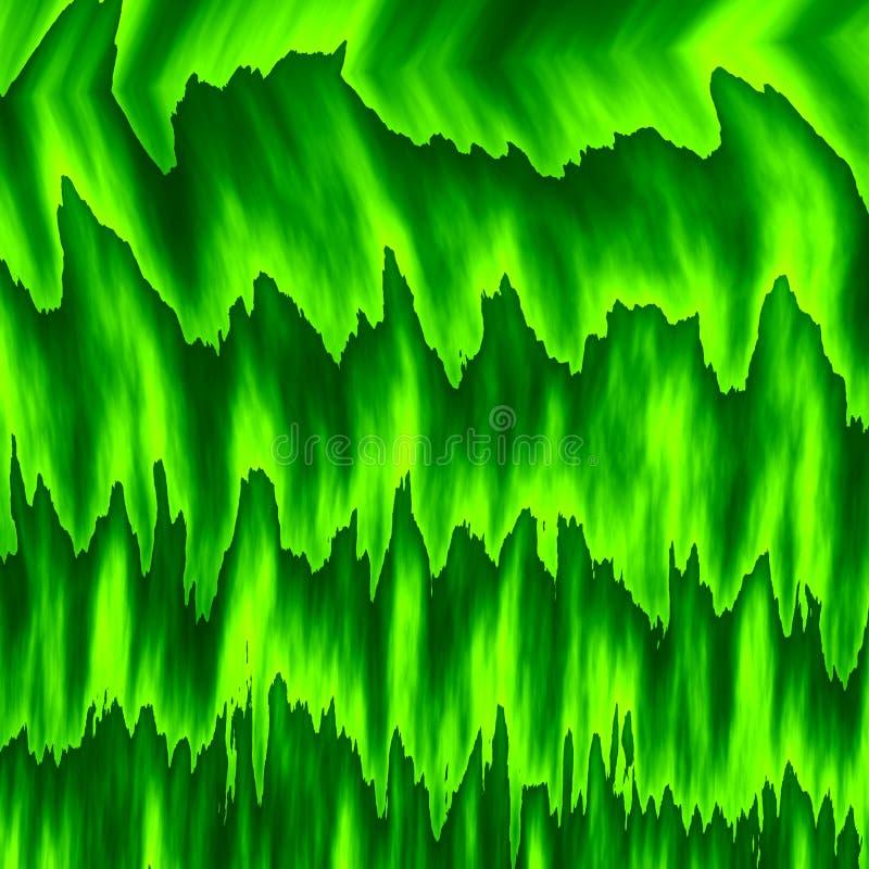 Camadas abstratas da cor verde Grama molhada Parede verde da folha Frame cheio Parte traseira do computador do estilo antigo Erva ilustração do vetor