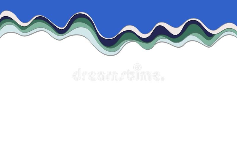 Camadas coloridos do fundo do efeito na moda do corte 3d do papel do vetor imagem de stock royalty free