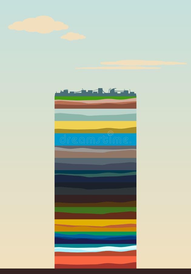 Camadas da terra ilustração stock