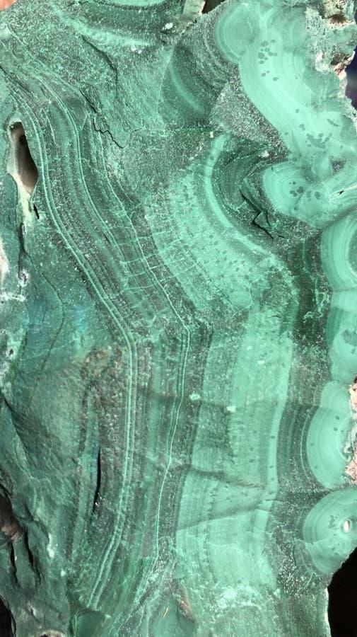Camadas de fluxo da malaquite de Zaire imagem de stock royalty free