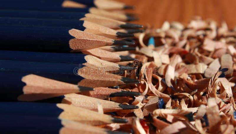 Camadas de lápis imagens de stock royalty free