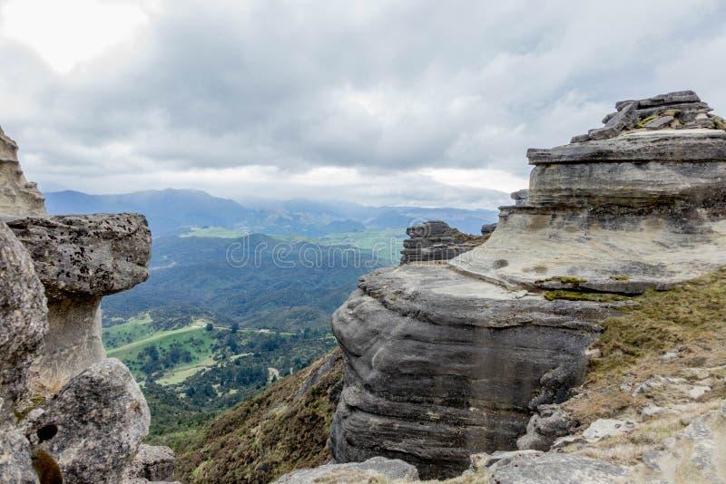 Camadas detalhadas de rocha de Bell fotografia de stock royalty free