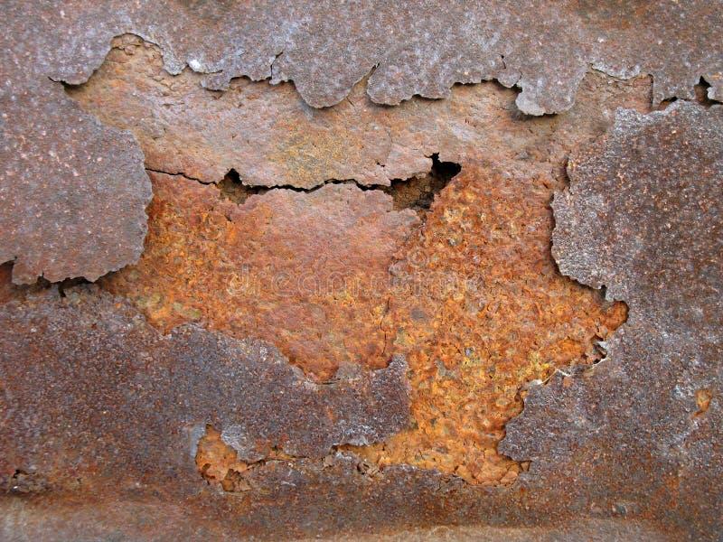 Camadas do metal da oxidação foto de stock