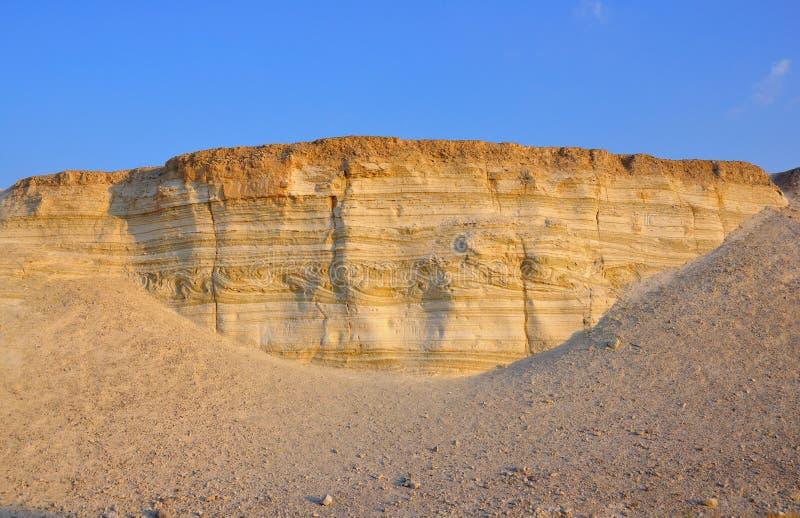 Camadas do terremoto da geologia, Israel foto de stock royalty free