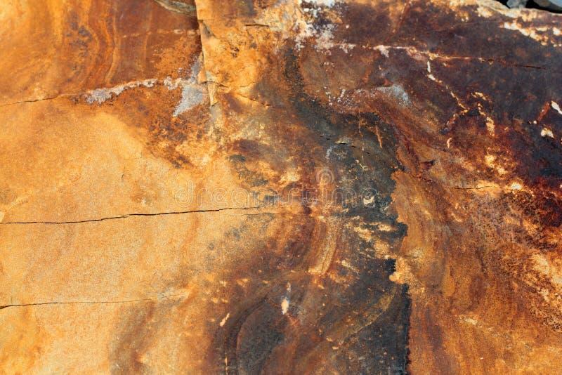 Camadas Geological de terra - rocha mergulhada, o universo, magma, teste padrão fotografia de stock