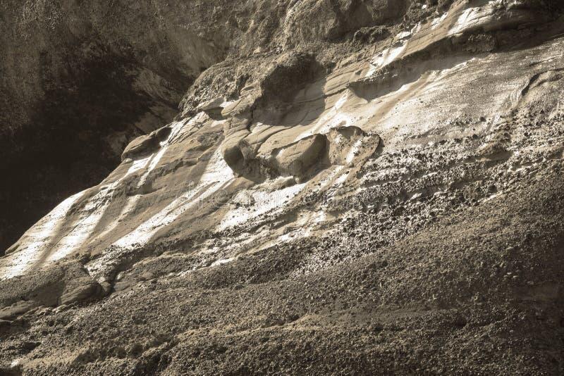 Camadas Geological do sedimento imagens de stock royalty free