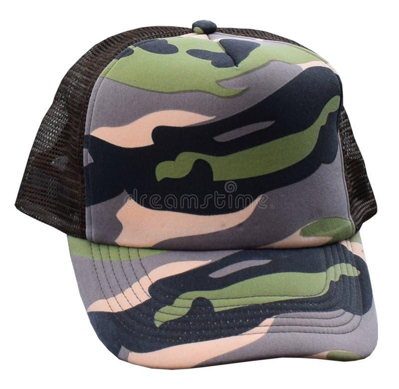 Camaflauge-Fernlastfahrer-Kappe stockbilder