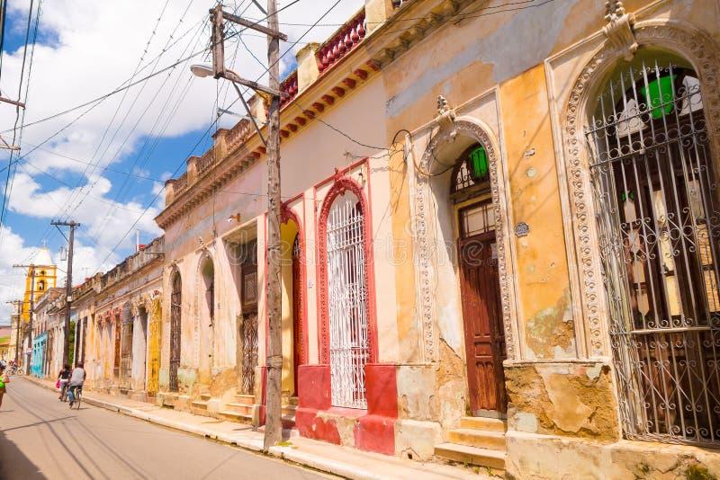 Camaguey, Cuba - a cidade velha alistou no mundo do UNESCO imagem de stock royalty free
