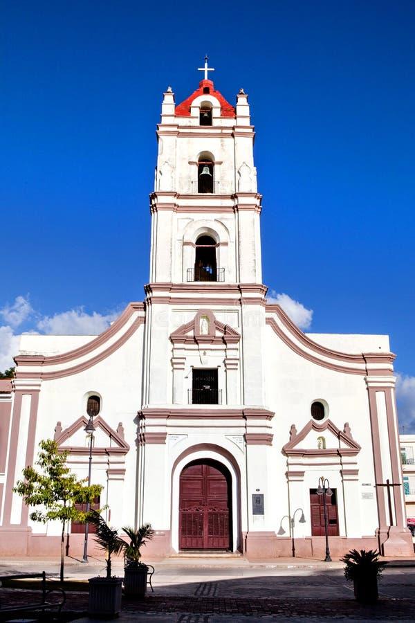 Camaguey, Cuba; Igreja de Iglesia de Nuestra Senora de la Merced em Plaza de los Trabajadores fotografia de stock royalty free