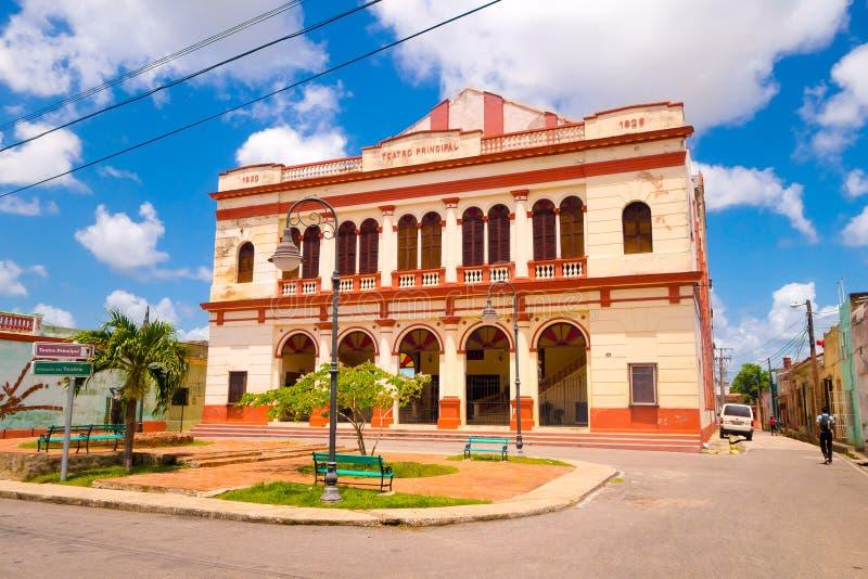 Camaguey, Cuba - la vecchia città ha elencato sul mondo dell'Unesco fotografie stock