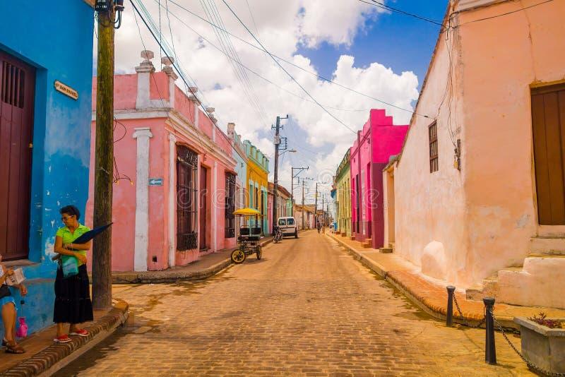 Camaguey Kuba - den gamla staden listade på UNESCOvärlden royaltyfri bild